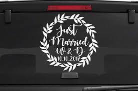 Just Married Car Window Decal Wedding Car Kit Just Married Sing Decal Wedding Decorations Vehicle Decals Vinyl Poster B116 Wall Stickers Aliexpress