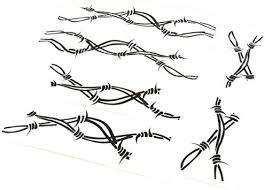Amazon Com Rugged Ridge 12300 32 Side Decal Pair Barbed Wire Automotive