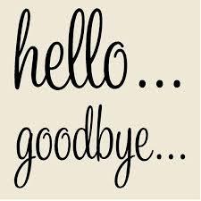Hello Goodbye Door Decal Set 3h X 6w Vinyl Etsy