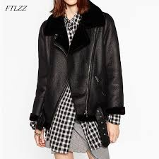 sheepskin coats thicken faux leather