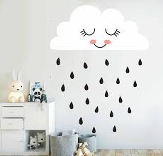 Cute Cloud Wall Decal Rain Cloud Face Wall Sticker For Kids Room Nursery Decal Decor Living Room Home Decor Vinyl Stickers A811 Sticker For Kids Room Wall Stickers For Kidswall Sticker Aliexpress