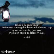 bahagia ku sederhana m quotes writings by hasna nur