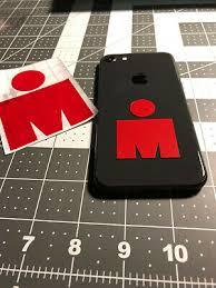 Ironman Half Im Triathlon Mdot Vinyl Sticker Decal Tri 70 3 Logo 140 6 2 00 Picclick