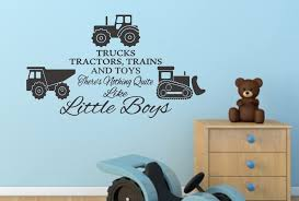 Trucks Tractors And Toys Boys Bedroom Wall Decal Wall Decals For Bedroom Boys Bedding Tractors