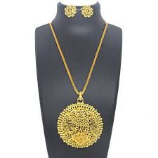indian big pendant chain necklace