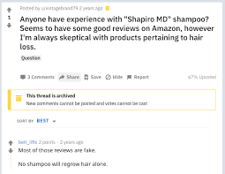 shapiro md shoo review is this a