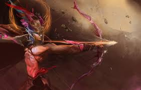 wallpaper bow arrow guy sagittarius