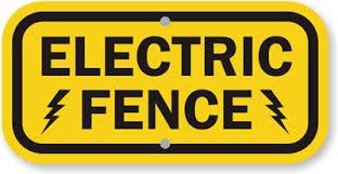 Electric Fence Sign Sku K 9809