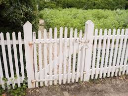 An Old White Picket Fence And Garden Gate Stock Photo Picture And Royalty Free Image Image 747165
