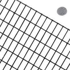 Fencer Wire 2 Ft X 100 Ft 16 Gauge Black Pvc Coated Welded Wire Mesh Size 1 5 In X 1 5 In Wv16 B2x100m1h2 The Home Depot