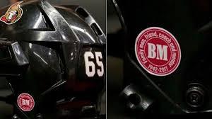 Senators To Honor Murray With Helmet Decal
