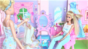 barbie morning routine sleepover makeup