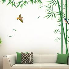 Home Decor Large Size Pretty Bamboo Wall Stickers Wall Decals Independence