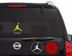 Michael Jordan Decal Air Basketball Oracal Logo Car Vinyl Window Sticker