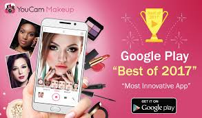 youcam makeup crowned best of 2017 by