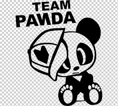 Car Giant Panda Japanese Domestic Market Decal Sticker Car White Text Team Png Klipartz