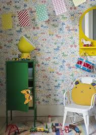 Borastapeter Wallpaper Children S Room Brio Icons Multi