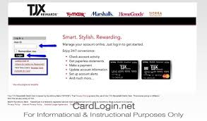 tjx rewards how to login how to