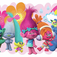 Trolls Movie Peel And Stick Giant Wall Decals Peel And Stick Decals The Mural Store