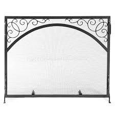 sterling single panel fireplace screen