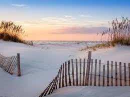 Sunrise At Pensacola Beach Florida With Sea Oats And Dune Fence Photographic Print H J Herrera Art Com