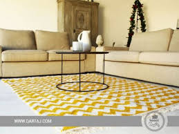 berber carpet yellow and white waves
