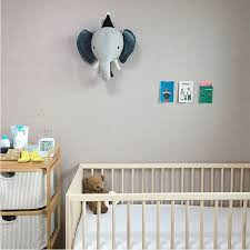 Hot Sale D4ad Kids Room Decoration 3d Animal Heads Elephant Deer Unicorn Head Wall Hanging Decor For Children Room Nursery Room Decoration Cicig Co