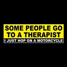 Funny Motorycycle Therapy Window Decal Bumper Sticker Harley Davidson Biker Harley Davidson Harley Window Stickers