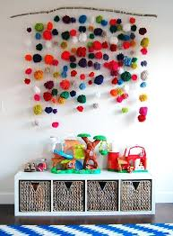 Diy Pom Pom Wall Art For Kid S Room Kid Room Decor Diy Projects Hanging Wall Decor