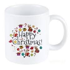 madworld happy christmas quotes ceramic white buy drinkware