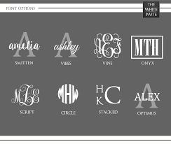 Personalized Decal Monogram For 20oz Or 30oz Yeti Rambler Rtic Tumble The White Invite