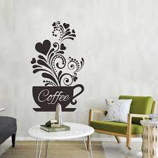 black white coffee cups wall art