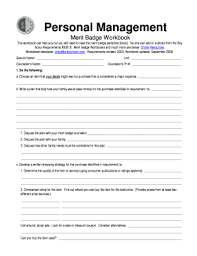 personal fitness merit badge worksheet