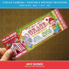 Circo Carnaval Cumpleanos Imprimibles Invitacion Por Loveshower