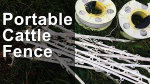 Portable Cattle Fence Youtube