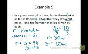 2 step equations from word problems