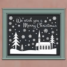 Christmas Decal Window Snow Scene Holiday Vinyl Decor