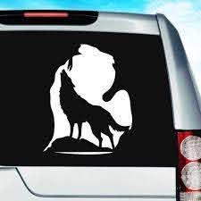 Michigan Wolf Silhouette Vinyl Car Truck Window Decal Sticker