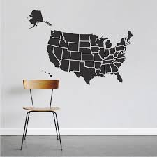 Map Of Usa Decal Sticker Large Us Map Interior Decor State Wall Decor Us States From Trendy Wall Designs