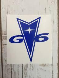 Pontiac G6 Vinyl Decal Sticker Car Window Decal Tumbler Decal Pontiac G6 Pontiac Emblem Pontiac Decal Pontiac Emblem Car Wall Art