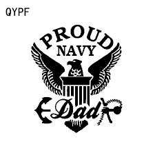 Qypf 13 5cm 16cm Fashion Eagle Proud Dad Us Navy Vinyl Decal Car Sticker Black Silver Car Styling C15 0853 Car Stickers Aliexpress