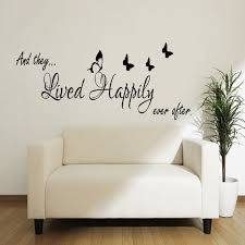 And They Lived Happily Ever After Wall Decal Sticker Vinyl Etsy Wall Stickers Bedroom Wall Decal Sticker Happily Ever After