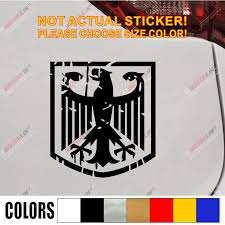 German Eagle Flag Coat Of Arms Of Germany Car Decal Sticker Vinyl Distressed Style Window Bumper Die Cut Choose Size And Color Vinyl Flag Stickers Flag Car Stickersgermany Flag Sticker Aliexpress
