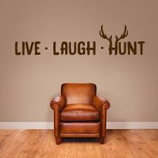 Live Laugh Hunt Wall Decal Home Decor Wall Decals