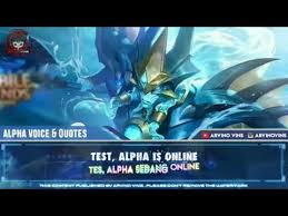 suara alpha mobile legends