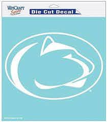 Amazon Com Penn State Nittany Lions Ncaa Vinyl Die Cut Window Decal Auto Car Logo White 8x8 Sticker College Licensed Team Logo Sports Outdoors