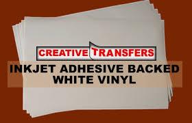 Inkjet Adhesive Backed White Vinyl 11 X 17 50 Sheets