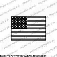 Flag Decal American Grey Black