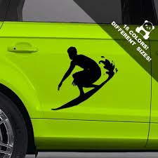 Surfer Car Car Vinyl Decal Surf Window Or Bumper Vinyl Etsy