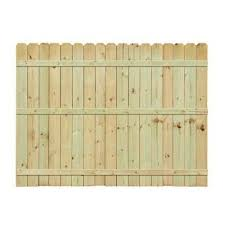6 Ft H X 8 Ft W Pressure Treated Pine Dog Ear Fence Panel 158083 The Home Depot Dog Ear Fence Fence Panels Wood Fence